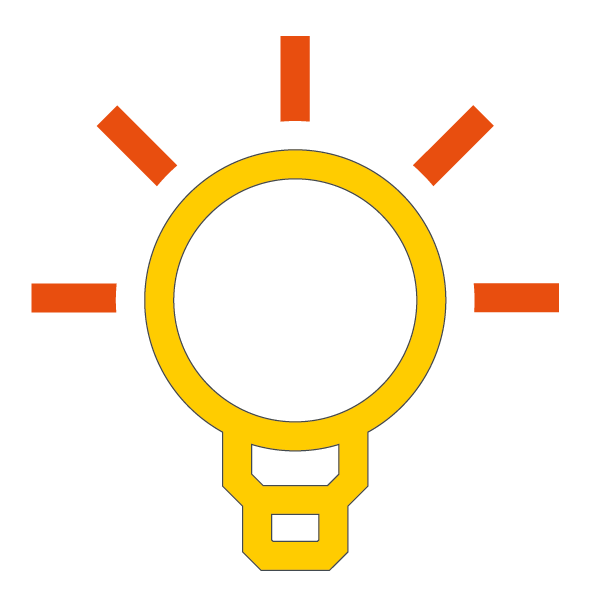Light bulb - understanding, thinking, learning etc